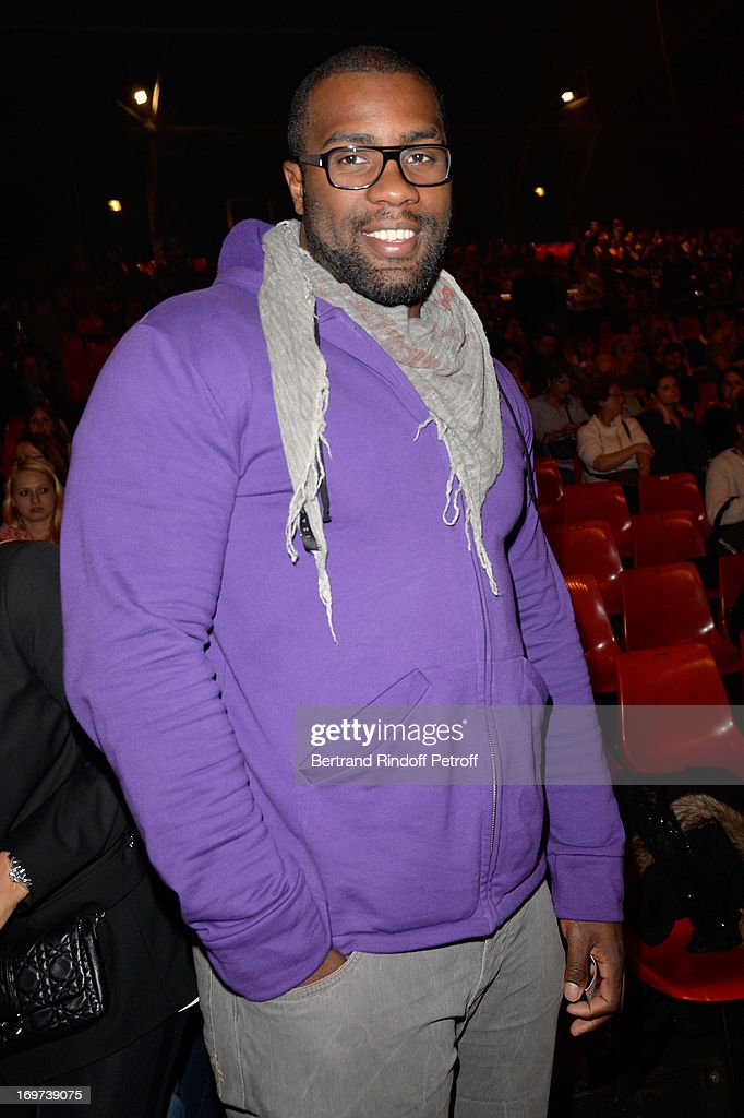 Judo Champion <a gi-track='captionPersonalityLinkClicked' href=/galleries/search?phrase=Teddy+Riner&family=editorial&specificpeople=4114927 ng-click='$event.stopPropagation()'>Teddy Riner</a> attends Patrick Bruel's concert at Zenith de Paris on May 29, 2013 in Paris, France.