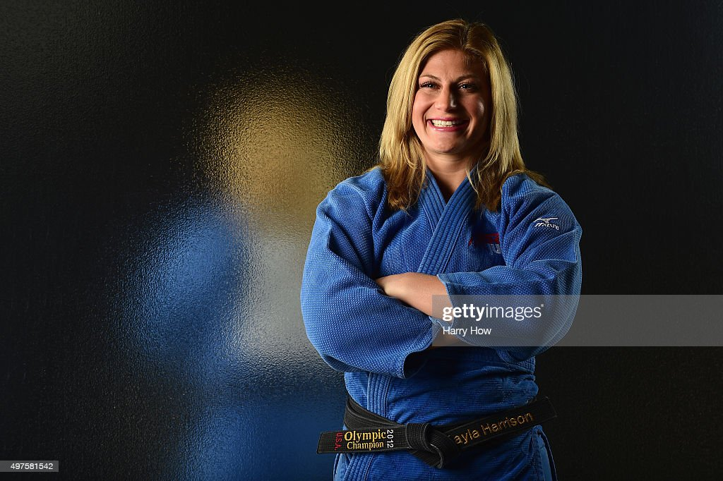 Judo competitor <a gi-track='captionPersonalityLinkClicked' href=/galleries/search?phrase=Kayla+Harrison&family=editorial&specificpeople=7179048 ng-click='$event.stopPropagation()'>Kayla Harrison</a> poses for a portrait at the USOC Rio Olympics Shoot at Quixote Studios on November 17, 2015 in Los Angeles, California.