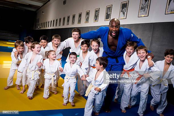 Judo fighter Teddy Riner is photographed for Paris Match on June 8 2016 in Paris France