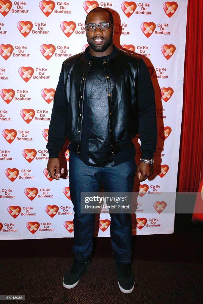 Judo world champion and Olympic judo champion Teddy Riner attends the Samba Premiere to Benefit 'CekeDuBonheur' which celebrates its 10th anniversary. Held at Cinema Gaumont Champs Elysees on October 14, 2014 in Paris, France.