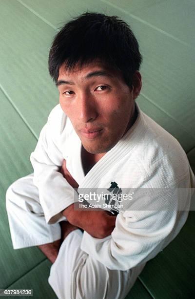 Judoka Shinichi Shinohara poses for photographs during the Asahi Shimbun interview on January 2 2000 in Tokyo Japan