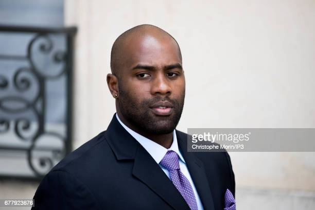Judoka Teddy Riner attends a lunch between French President Francois Hollande and King Mohammed VI of Morocco the latter being came in order to...