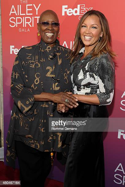 Judtih Jamison and Vanessa Williams attend the 2014 Ailey Spirit Gala at David H Koch Theater at Lincoln Center on June 11 2014 in New York City