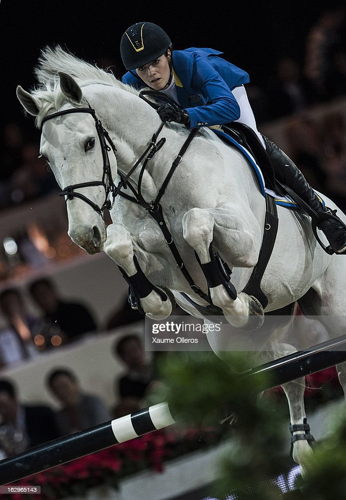 Judy Ann Melchior rides As Cold As Ice Z at the Longines Grand Prix during the Longines Hong Kong Masters International Show Jumping at Asia World Expo on March 2, 2013 in Hong Kong, Hong Kong.