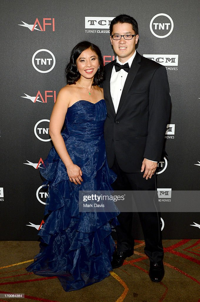 Judy Chen (L) and Roger Chen, Director of User Experience & Technology Innovation for Nike Digital Studio at Nike, attend AFI's 41st Life Achievement Award Tribute to Mel Brooks at Dolby Theatre on June 6, 2013 in Hollywood, California. 23647_005_MD_0144.JPG