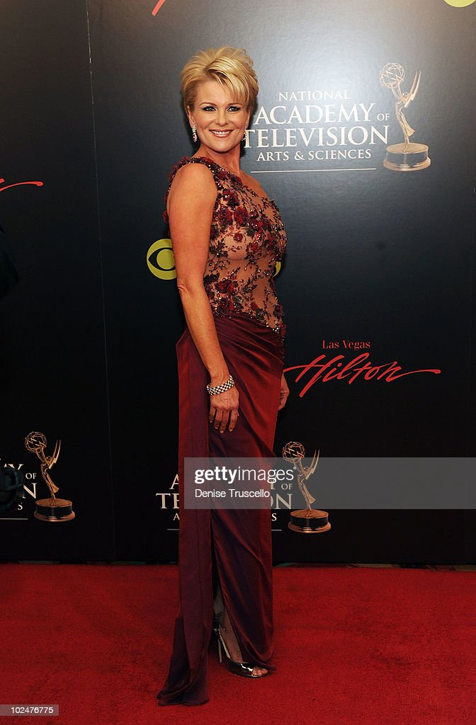 Judy Evans arrives at the 37th Annual Daytime Emmy Awards at Las Vegas Hilton on June 27, 2010 in Las Vegas, Nevada.