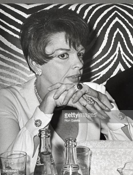 Judy Garland during Judy Garland Performance Party July 31 1967 at El Morrocco Club in New York City New York United States