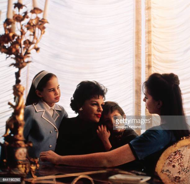 Judy Garland with her children Lorna Luft Joey Luft and Liza Minnelli