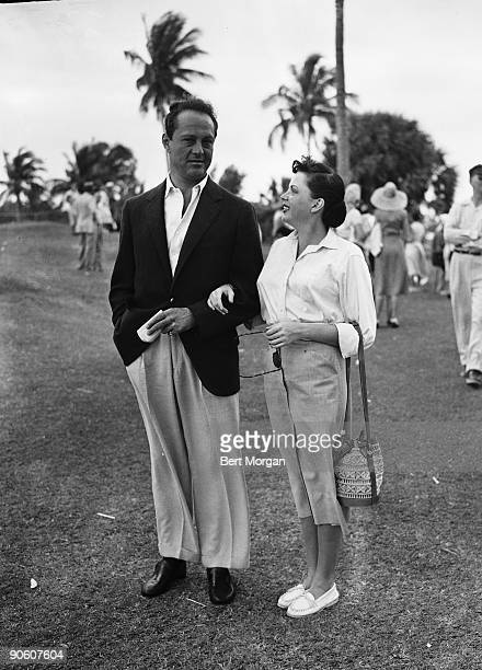 Judy Garland with husband and manager Syd Luft at the Seminole Golf Club North Palm Beach Florida