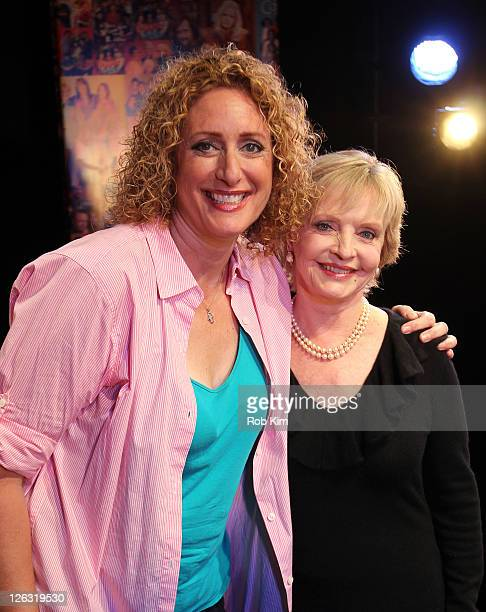 Judy Gold and Florence Henderson visit 'The Judy Show My Life As A Sitcom' at the DR2 Theater on September 24 2011 in New York City
