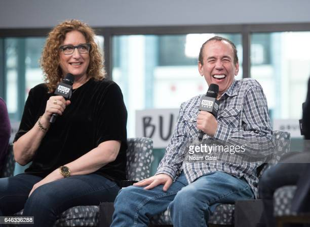 Judy Gold and Gilbert Gottfried visit Build Series to discuss 'The Last Laugh' at Build Studio on February 28 2017 in New York City