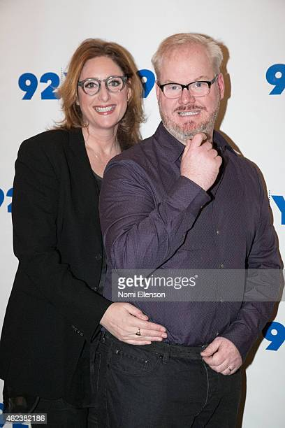 Judy Gold and Jim Gaffigan attends 92nd Street Y Presents Jim Gaffigan In Conversation With Judy Gold at 92nd Street Y on January 27 2015 in New York...
