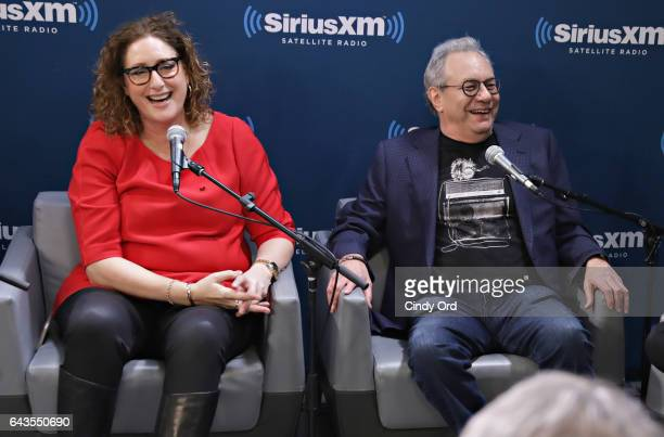 Judy Gold and Lewis Black speak as SiriusXM's John Fugelsang hosts 'Donald Trump's First 30 Days' with special guests Frank Conniff Gilbert Gottfried...