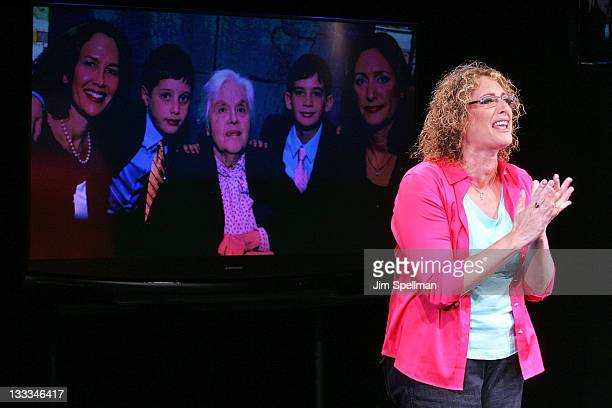 Judy Gold attends 'The Judy Show My Life As A Sitcom' OffBroadway opening night curtain call at DR2 Theater on July 6 2011 in New York City