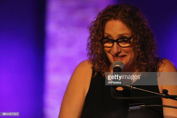 Judy Gold performs at the 17th Annual Downtown Seder at City Winery on April 3 2017 in New York City