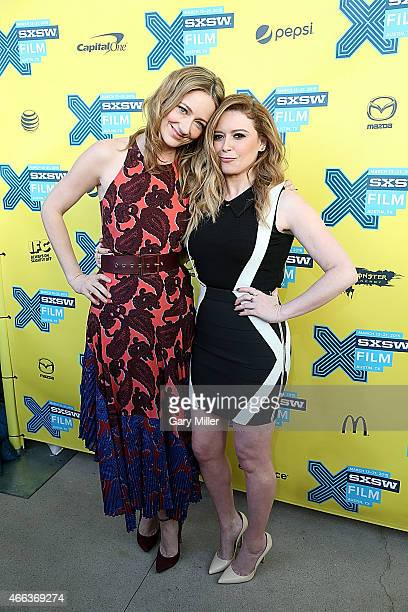 Judy Greer and Natasha Lyonne pose on the red carpet for the screening of 'Fresno' at the Topfer Theater during the South by Southwest Film Festival...