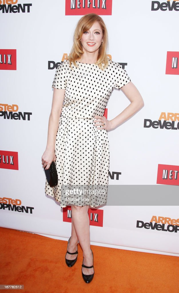 Judy Greer arrives at Netflix's Los Angeles premiere of 'Arrested Development' season 4 held at TCL Chinese Theatre on April 29, 2013 in Hollywood, California.