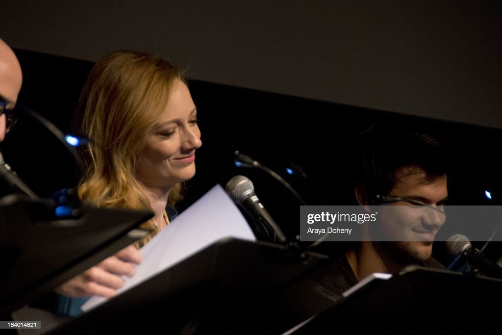 <a gi-track='captionPersonalityLinkClicked' href=/galleries/search?phrase=Judy+Greer&family=editorial&specificpeople=214752 ng-click='$event.stopPropagation()'>Judy Greer</a> at the Film Independent at LACMA - 'Boogie Nights' live read directed by Jason Reitman at Bing Theatre At LACMA on October 10, 2013 in Los Angeles, California.