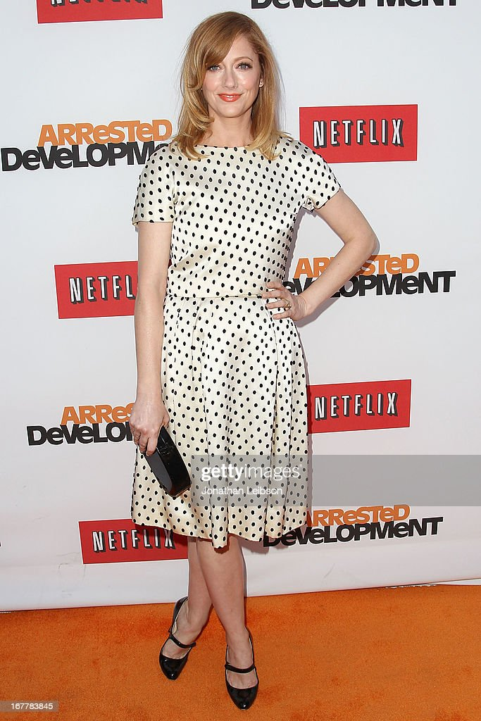 Judy Greer attends the Netflix's Los Angeles Premiere Of 'Arrested Development' Season 4 at TCL Chinese Theatre on April 29, 2013 in Hollywood, California.