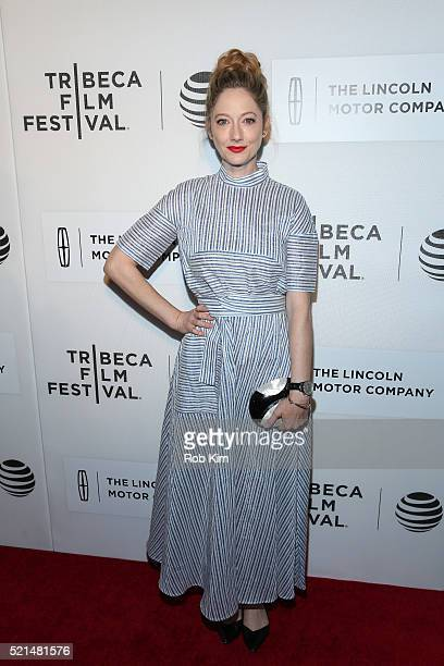Judy Greer attends the premiere of 'All We Had' during the 2016 Tribeca Film Festival at John Zuccotti Theater at BMCC Tribeca Performing Arts Center...