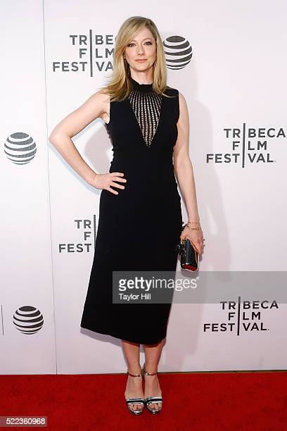Judy Greer attends the premiere of 'Elvis Nixon' at Borough of Manhattan Community College during the 2016 TriBeCa Film Festival on April 18 2016 in...