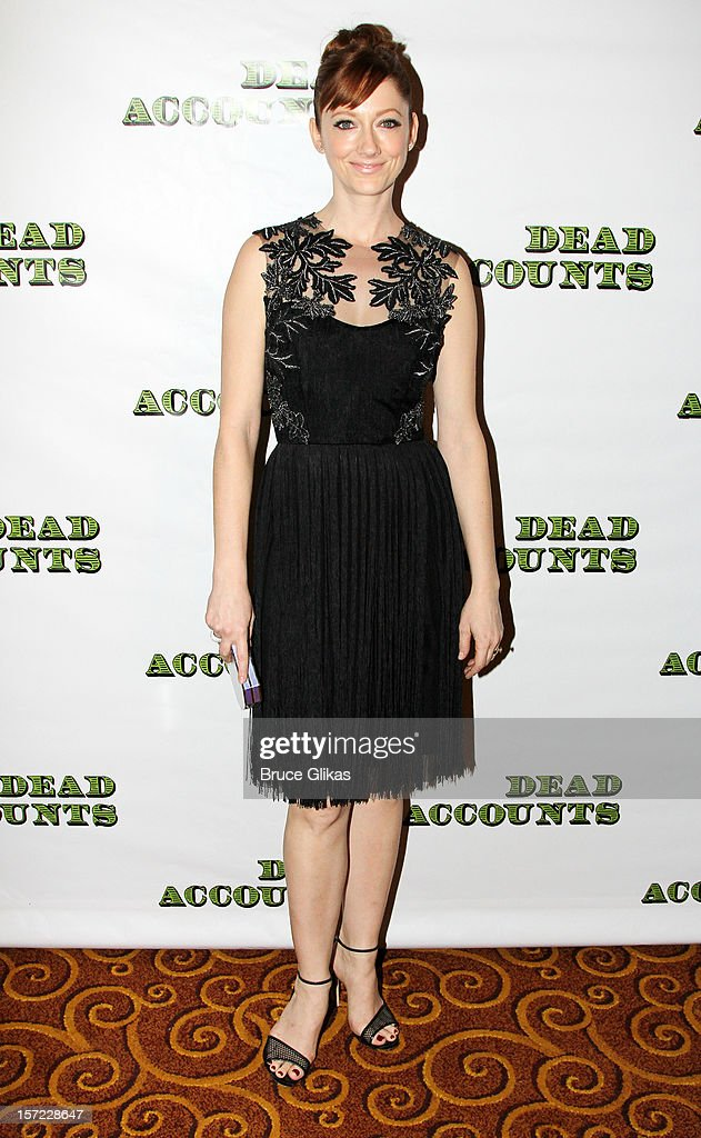 Judy Greer poses at the Opening Night After-Party for 'Dead Accounts' on Broadway at Gotham Hall on November 29, 2012 in New York City.