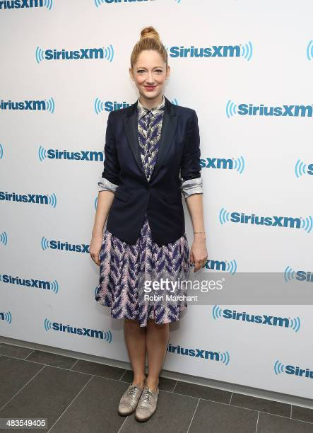 Judy Greer visits at SiriusXM Studios on April 9 2014 in New York City