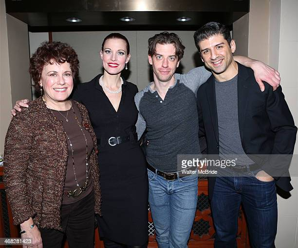 Judy Kaye Rachel York Christian Borle and Tony Yazbeck attend the closing night reception for the Encores production of 'Little Me' at the New York...