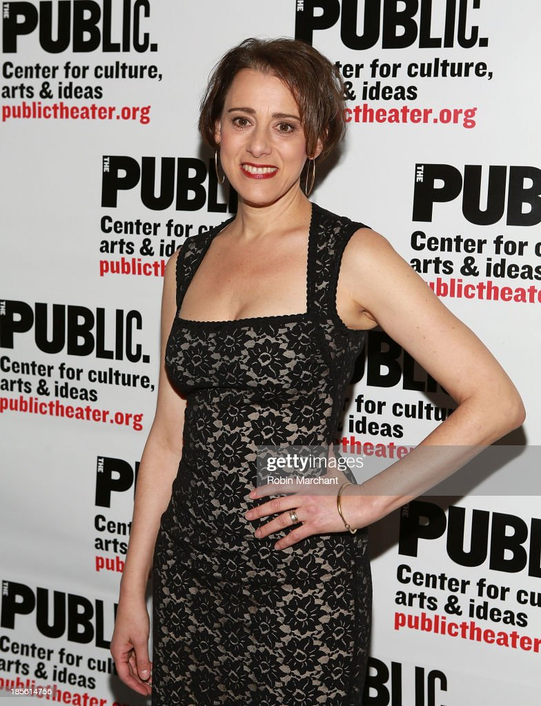 Judy Kuhn attends the opening night celebration of 'Fun Home' at The Public Theater on October 22, 2013 in New York City.