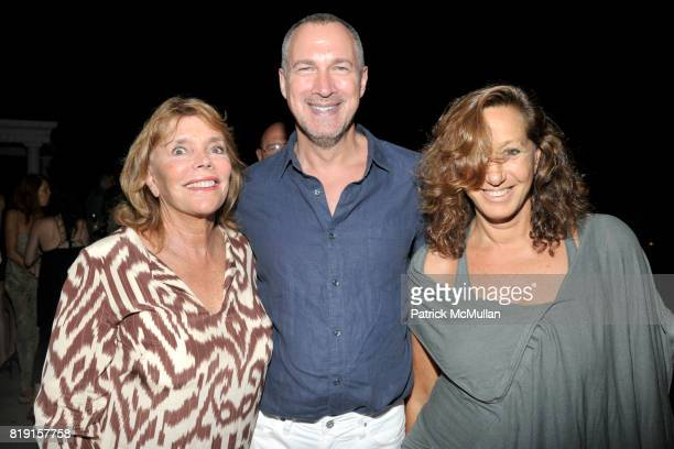 Judy Licht Edward Menicheschi and Donna Karan attend THE CINEMA SOCIETY with VANITY FAIR HUGO BOSS host the after party for 'DINNER FOR SCHMUCKS' at...