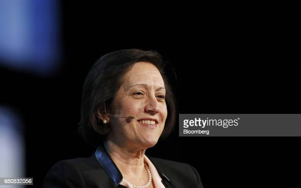 Judy Marks chief executive officer of Siemens USA smiles during the 2017 CERAWeek by IHS Markit conference in Houston Texas US on Thursday March 9...
