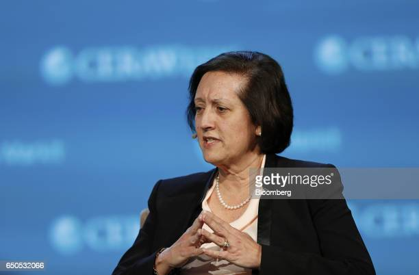 Judy Marks chief executive officer of Siemens USA speaks during the 2017 CERAWeek by IHS Markit conference in Houston Texas US on Thursday March 9...