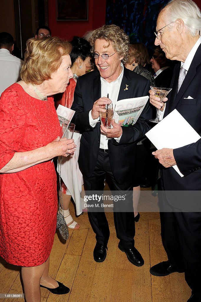 Judy Martin, Roger Daltrey and Sir George Martin attend 'A Celebration Of The Arts' at Royal Academy of Arts on May 23, 2012 in London, England.