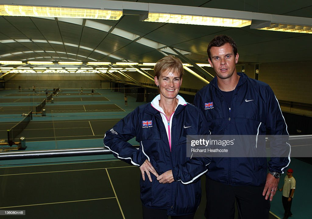 Judy Murray and Leon Smith pose for a picture as Judy is announced as the Fed Cup Captain during a LTA Press Conference at the LTA Tennis Centre in Roehampton on December 19, 2011 in London, England.