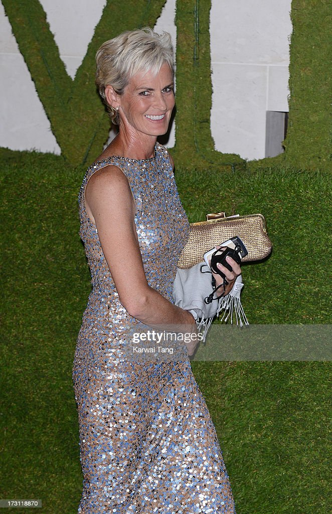 <a gi-track='captionPersonalityLinkClicked' href=/galleries/search?phrase=Judy+Murray&family=editorial&specificpeople=582324 ng-click='$event.stopPropagation()'>Judy Murray</a> arrives for the Wimbledon Champions Dinner held at the InterContinental Park Lane Hotel on July 7, 2013 in London, England.