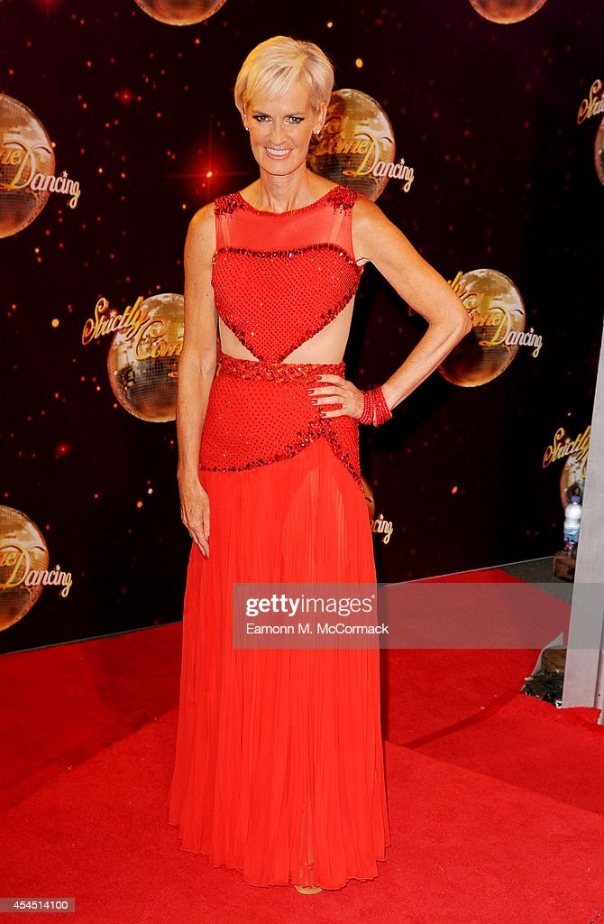 Judy Murray attends the red carpet launch for 'Strictly Come Dancing' 2014 at Elstree Studios on September 2, 2014 in Borehamwood, England.