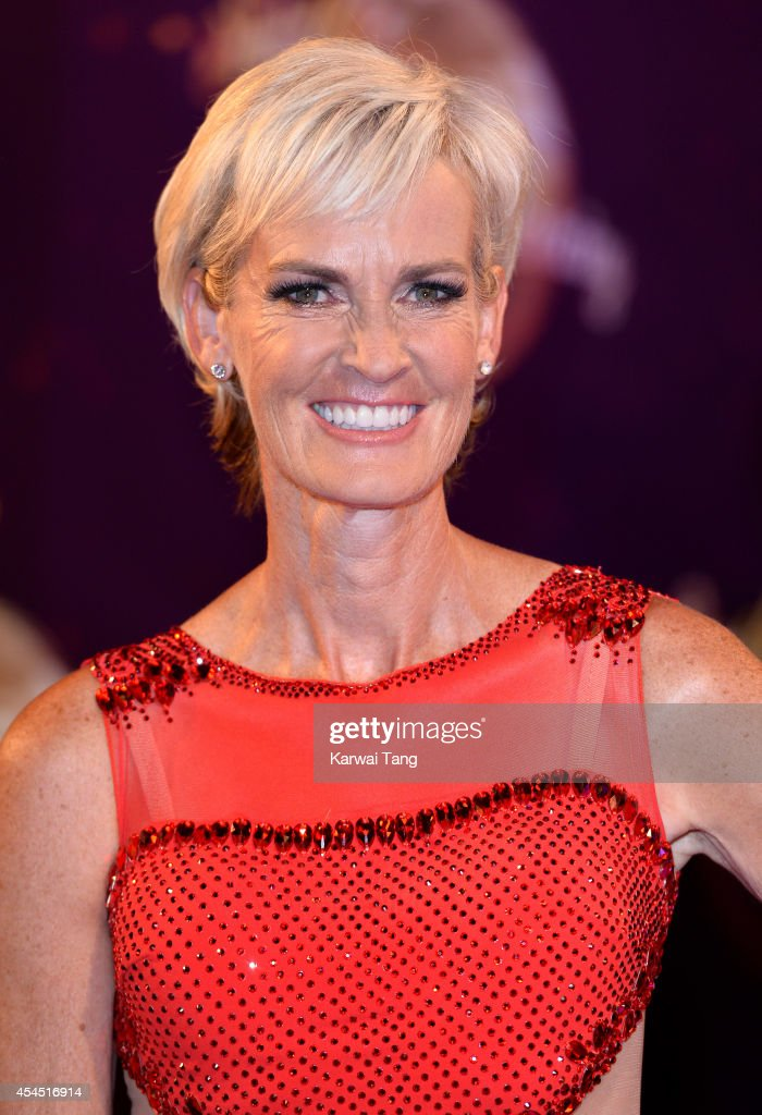 <a gi-track='captionPersonalityLinkClicked' href=/galleries/search?phrase=Judy+Murray&family=editorial&specificpeople=582324 ng-click='$event.stopPropagation()'>Judy Murray</a> attends the red carpet launch for Strictly Come Dancing 2014 at Elstree Studios on September 2, 2014 in Borehamwood, England.