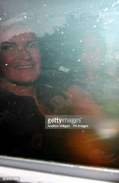 Judy Murray mother of tennis player Jamie Murray arrives in a stretched limo for her son's wedding to Alejandra Gutierrez at Cromlix House Hotel near...