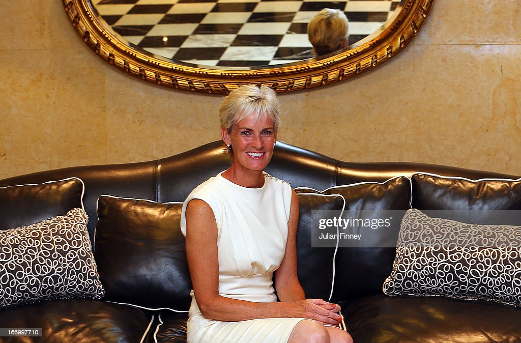 <a gi-track='captionPersonalityLinkClicked' href=/galleries/search?phrase=Judy+Murray&family=editorial&specificpeople=582324 ng-click='$event.stopPropagation()'>Judy Murray</a> of Great Britain poses for a photo at the Pan Americano Hotel during previews ahead of the Fed Cup World Group Two Play-Offs between Argentina and Great Britain at Parque Roca on April 18, 2013 in Buenos Aires, Argentina.