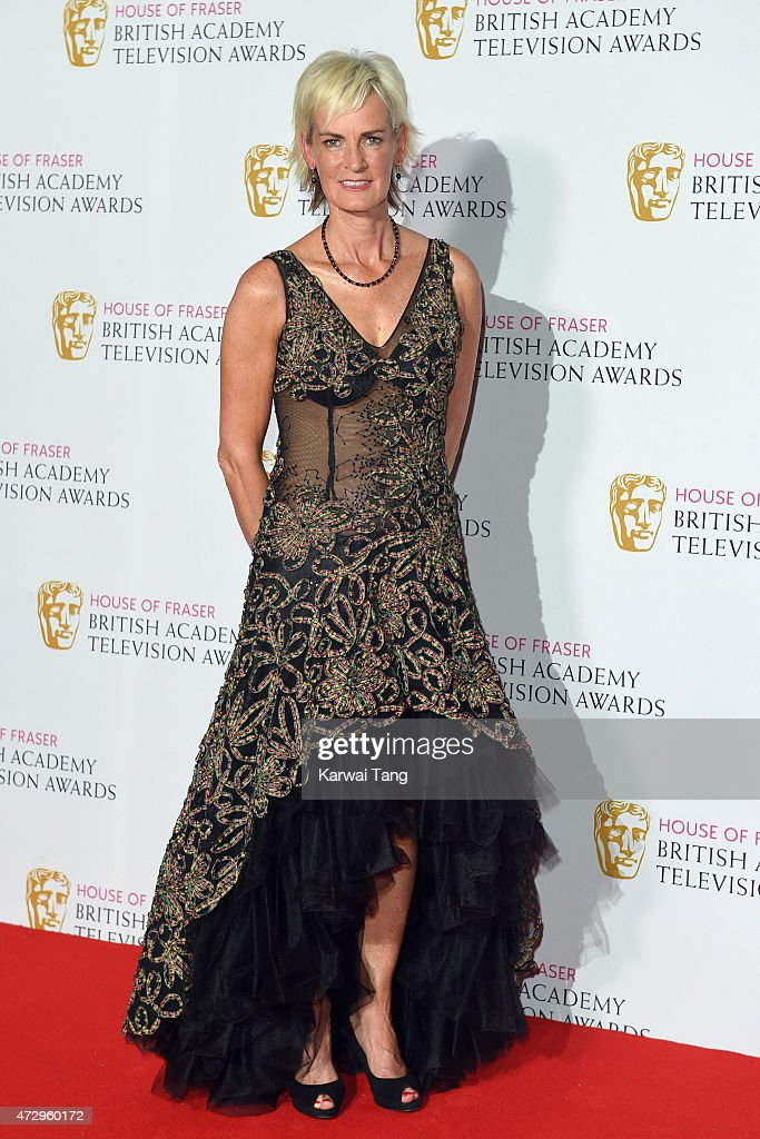 Judy Murray poses in the winners room at the House of Fraser British Academy Television Awards at Theatre Royal on May 10, 2015 in London, England.