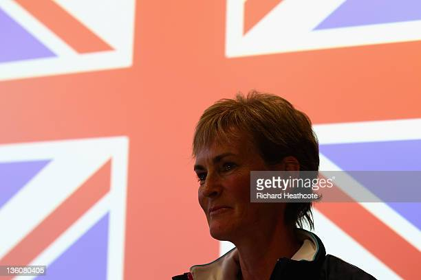 Judy Murray speaks to the media as she is announced as the Fed Cup Captain during a LTA Press Conference with Judy Murray and Leon Smith at the LTA...