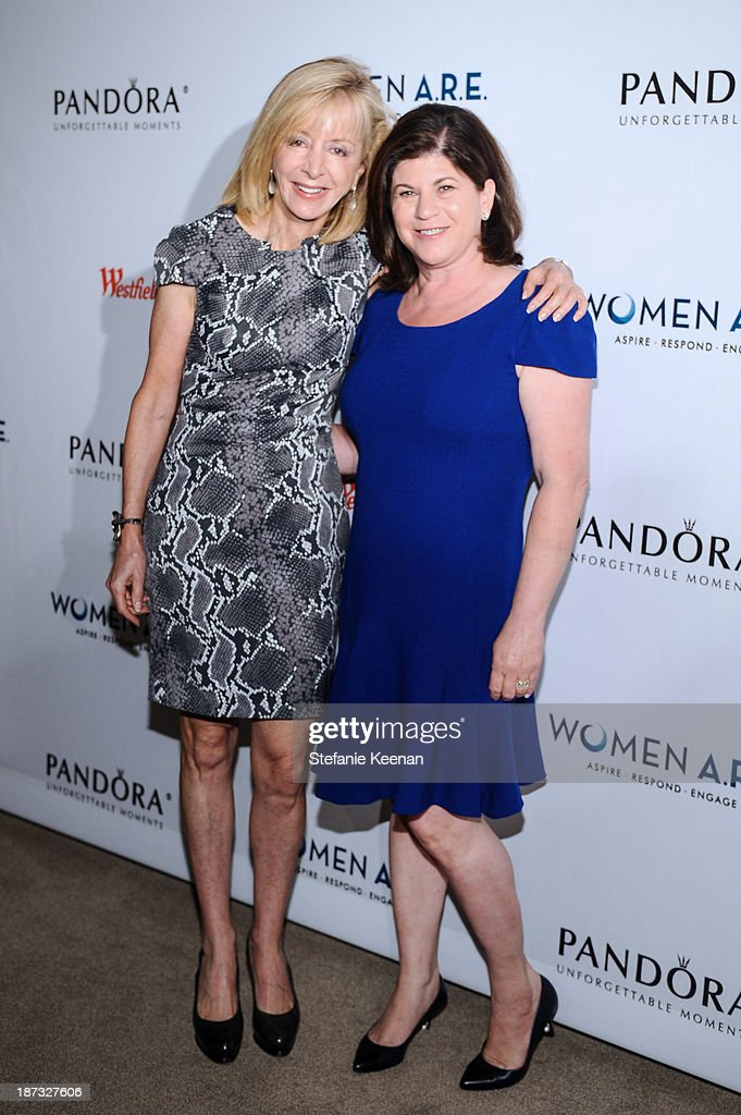 Judy Olian and Beth Friedman attend WOMEN A.R.E Inaugural Summit Presented By PANDORA at SLS Hotel on November 7, 2013 in Beverly Hills, California.