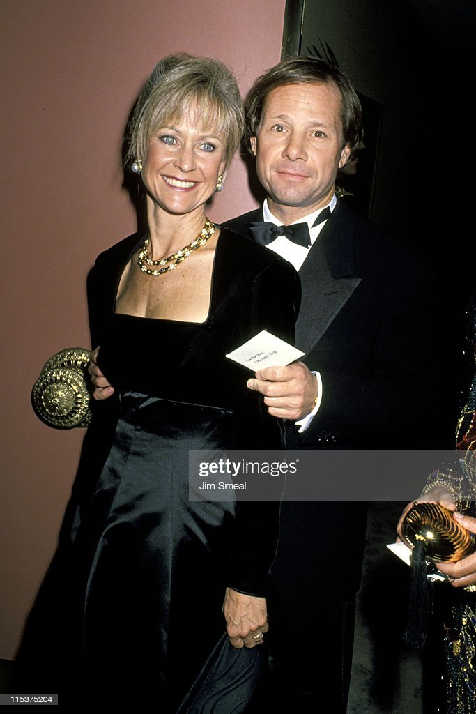 Judy Ovitz and Michael Ovitz during 1990 Carousel of Hope Ball at Beverly Hilton Hotel in Beverly Hills California United States