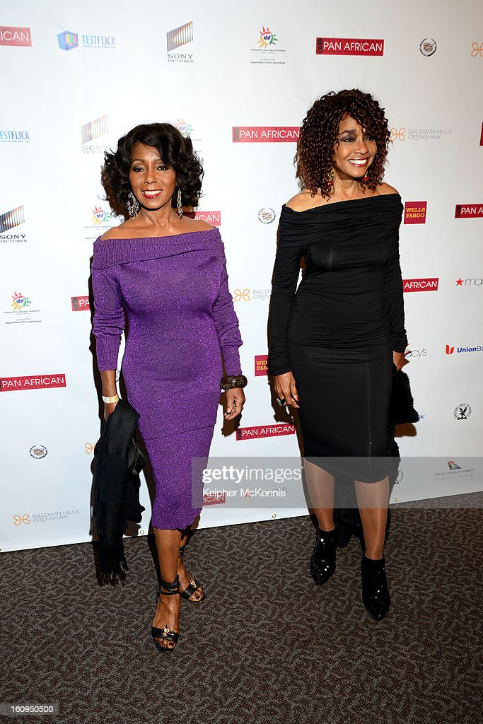 Judy Pace and guest attend 21st Annual Pan African Film Festival Opening Night Gala premiere of Vipaka at DGA Theater on February 7, 2013 in Los Angeles, California.