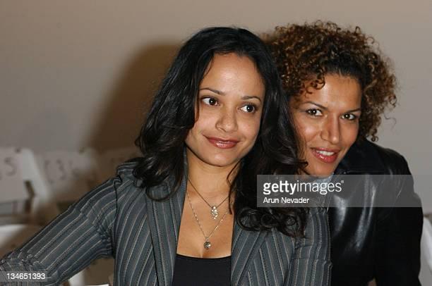 Judy Reyes and Lucia Rijker during MercedesBenz Fall 2005 LA Fashion Week at Smashbox Studios Kevan Hall Front Row at Smashbox Studios in Culver City...