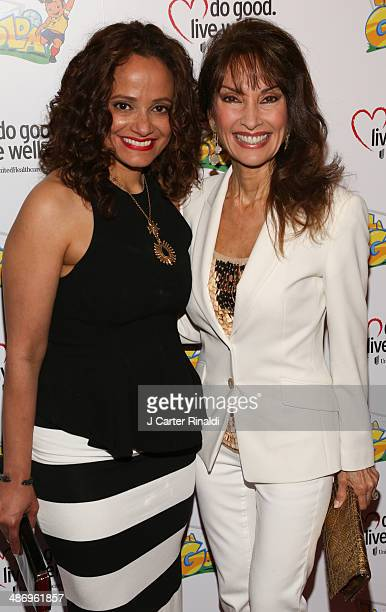 Judy Reyes and Susan Lucci attend the 'La Golda' premiere at Lighthouse International Theater on April 26 2014 in New York City