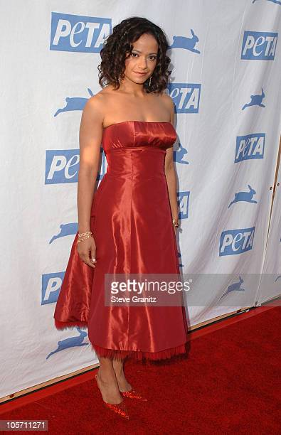 Judy Reyes during PETA's 25th Anniversary Gala and Humanitarian Awards Show Red Carpet at Paramount Pictures in Hollywood California United States