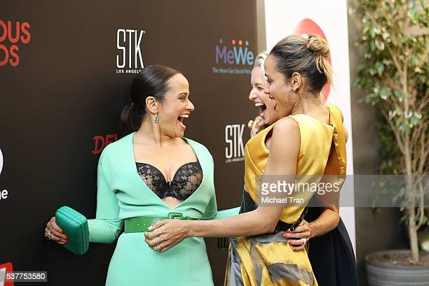 Judy Reyes Katherine LaNasa and Dania Ramirez arrive at the season 4 premiere of Lifetime's 'Devious Maids' held at STK Los Angeles on June 2 2016 in...