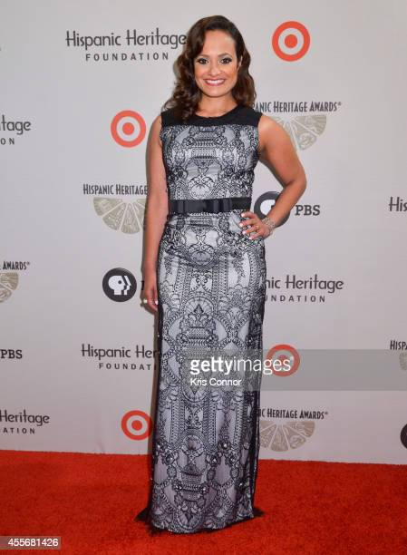 Judy Reyes poses on the red carpet during the 2014 Hispanic Heritage Awards at Warner Theatre on September 18 2014 in Washington DC