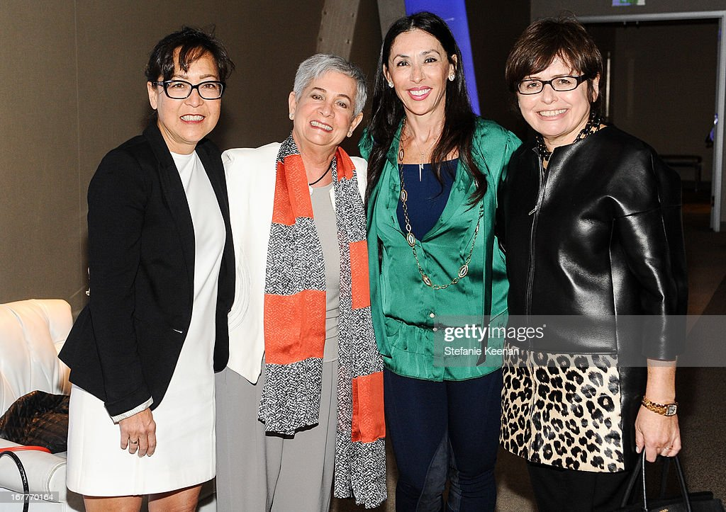 Judy Sakaki, Ann Myer, Michele Bohbot and Susan Weiss-Fischmann attend Women A.R.E. Salon Event Featuring Home Shopping Network's CEO Mindy Grossman at SLS Hotel on April 29, 2013 in Beverly Hills, California.